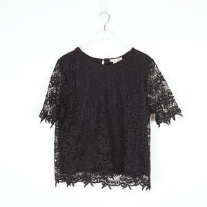 Philosophy NWT Black Lace Lined Top Size XXL